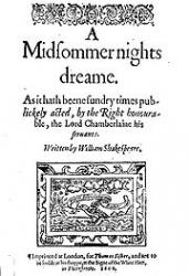 Title page of the play, from the first quarto