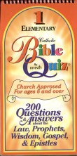 Book cover: 'Catholic Bible Quiz: Elementary Level'