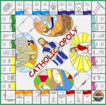 Book cover: 'Catholic-opoly'
