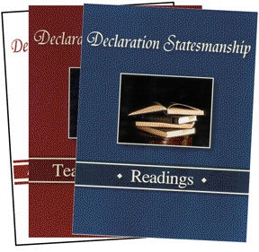 Book cover: 'Declaration Statesmanship: A Course in American Government'