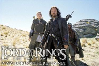 Still shot from 'The Two Towers' movie