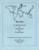 Book cover: 'His Story: A Catholic Overview of United States and World History'