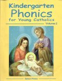 Book cover: 'Kindergarten Phonics for Young Catholics'