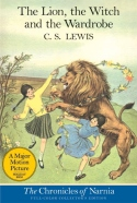 Book cover: 'The Lion, the Witch and the Wardrobe'