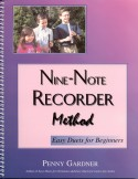 Book cover: 'Nine-Note Recorder Method: Easy Duets for Beginners'