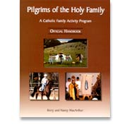 Book cover: 'Pilgrims of the Holy Family'