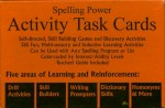 Book cover: 'Spelling Power Activity Task Cards'