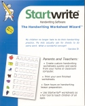Book cover: 'Startwrite Handwriting Software: The Handwriting Worksheet Wizard'
