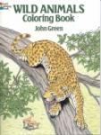 Book cover: 'Wild Animals Coloring Book'